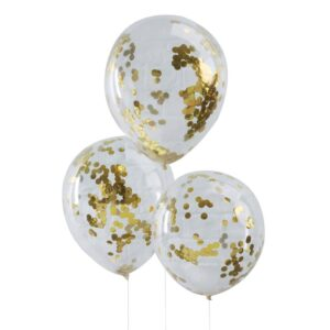 original-pack-of-five-gold-confetti-filled-clear-party-balloons
