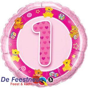balloon-foil-18inch-round-birthday-pink-teddies-age-1